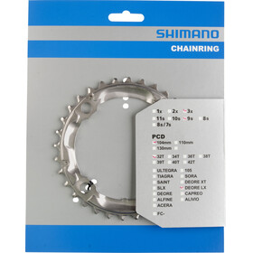 Shimano Deore LX FC-M580 Drev 9-stegs silver